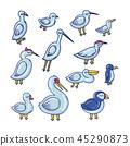 cartoon color illustration 45290873