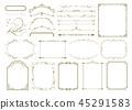 Elegant frame set 45291583
