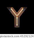 Neon Light Alphabet Y with clipping path 45292124