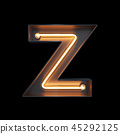 Neon Light Alphabet Z with clipping path 45292125