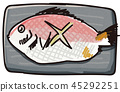 japanese food, japanese cuisine, salted and fried sea bream 45292251