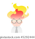 Illustration of an angry businessman 45292444