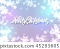 snowflake, christmas, lettering 45293605