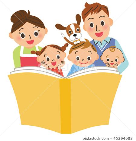 父母和孩子讀了一本書 45294088