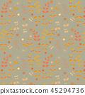 斯堪的納維亞風格繡花和櫻桃橙色(咳嗽背景)模式 45294736