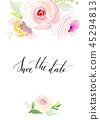 floral vector wedding 45294813