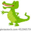 crocodile, alligator, cartoon 45296579