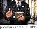 Digital marketing media in virtual screen. 45301095