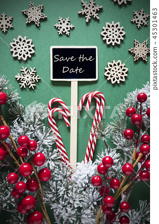 Retro Black Christmas Sign,Lights, Save The Date 45301463