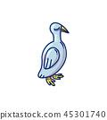 doodle bird vector 45301740