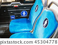 city bus or electric bus with seats for disabled and elderly p 45304778