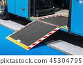 platform for wheelchairs in the cabin of a modern and comfortabl 45304795