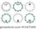 圣诞花环框架1 45307589