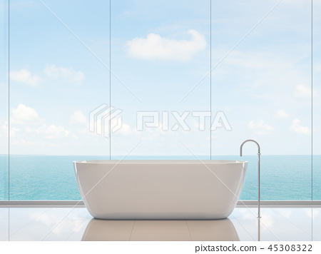 Minimal style bathroom 3d render 45308322