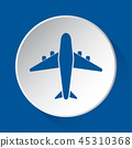 airplane, plane, icon 45310368