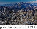 On the ice of Misaka mountain area and Onigatake summit and the prospect of Lake Honjo and Moshiyama area 45313933