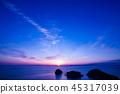 來自Zagasaki的傍晚的太陽 45317039