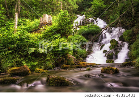 small cascading waterfall 45321433