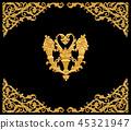 Ornament elements, vintage gold floral designs 45321947