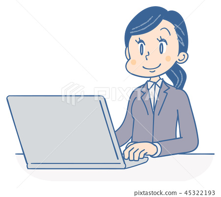 Business woman personal computer 45322193