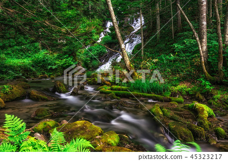 Biei cascade waterfall 45323217