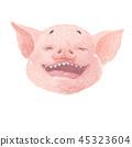 pig, animal, drawing 45323604