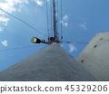 telegraph pole, telephone pole, electric pole 45329206