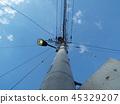 telegraph pole, telephone pole, electric pole 45329207