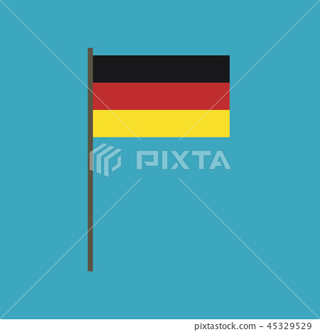 Germany flag icon in flat design 45329529