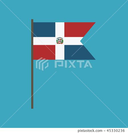 Dominican Republic flag icon in flat design 45330236