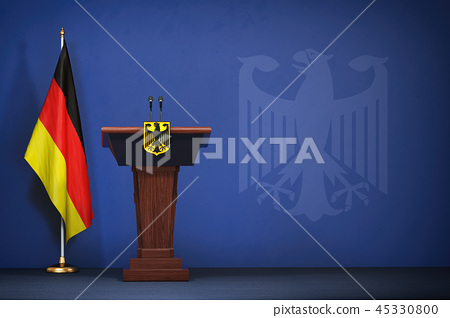 Press conference  of premier minister of Germany 45330800