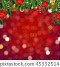 Red Background With Bokeh And Border 45332514