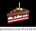 케이크, 초콜릿, 패스트리 45332818