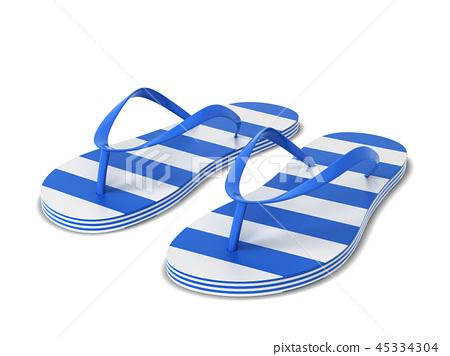 Pair of blank flip flops 45334304