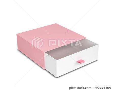 Blank drawer type box mockup 45334469