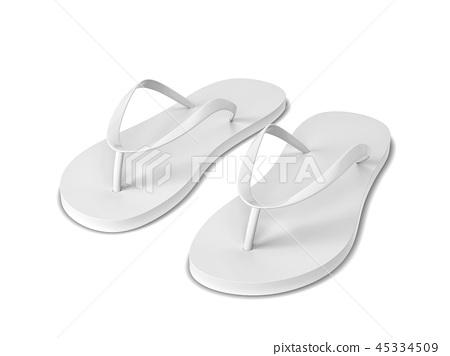 Pair of blank flip flops 45334509
