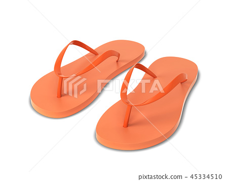 Pair of blank flip flops 45334510