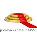 Podium with red carpet 45334553