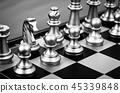 chess pieces black and white. 45339848