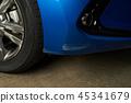 Scratched car bumper 45341679