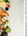 Asian food background 45341934