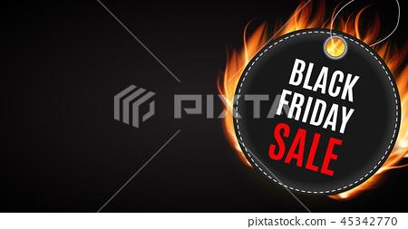 163565d02f4 Black Friday Sale Inscription Banner Design Template. Vector illustration