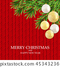 Abstract Holiday New Year and Merry Christmas Background. Vector Illustration 45343236