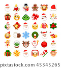 christmas, icon, vector 45345265
