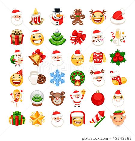 Christmas Emojis Set 45345265
