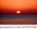 日落 海 大海 45345586