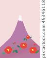 富士山 堆 许多 45346118