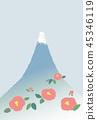 富士山 堆 许多 45346119