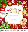 christmas, vector, santa 45350915