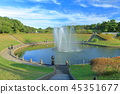 日立海滨公园 喷泉 池塘 45351677